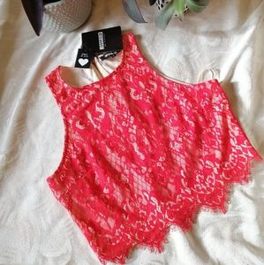 Missguided Lace Top